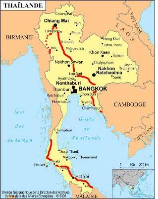 Carte Thailande Frontiere.Thailande